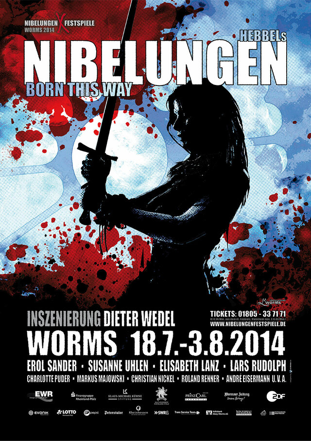 Plakat: Hebbels Nibelungen - Born this Way (2014)